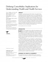 Defining Comorbidity: Implications for Understanding Health and Health Services
