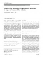 Misclassification in Administrative Claims Data: Quantifying the Impact on Treatment Effect Estimates