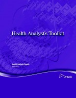 Health Analyst's Toolkit