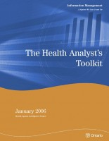 The Health Analyst's Toolkit (January 2006 Health System Intelligence Project)