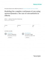 Modelling the complete continuum of care using system dynamics: the case of osteoarthritis in Alberta