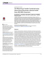 The REporting of studies Conducted using Observational Routinely-collected health Data (RECORD) Statement