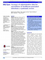 Accuracy of administrative data for surveillance of healthcare-associated infections: a systematic review