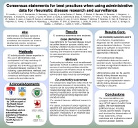 Consensus statements for best practices - CANRAD Network Poster