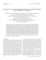 Robustness of Prevalence Estimates Derived from Misclassified Data from Administrative Databases