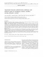 Agreement between administrative databases and medical charts for pregnancy-related variables among asthmatic women