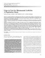 Gaps in Care for Rheumatoid Arthritis: A Population Study